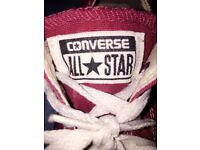 Red converse all stars size 3