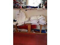 Brand new Judo white colour uniforms 100cm to 180cm , half price