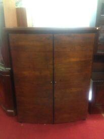 2 door vintage wooden wardrobe