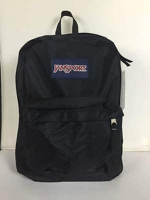 Neu Jansport Superbreak Rucksack Schwarz 100% Original Schule Buch-Tasche - Jansport Superbreak Rucksack Schule