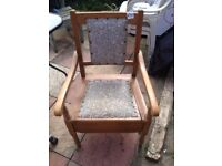 wooden comode chair good condition only £10.00