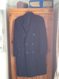 M & S men's navy wool coat XL