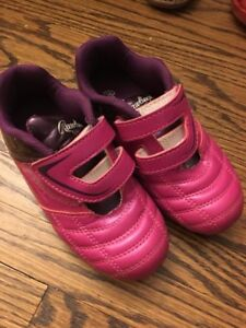 Pink soccer cleats - children's size 12