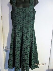 EMERALD GREEN LACE DRESS SIZE 14/16 BRAND NEW WITH LABEL RRP £49.99 PARTY OR WEDDING