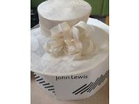 John lewis hat, cream.