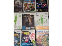 Wii Console Wii Balance 9 Games Wii Fit One Controller Nun Chuck.