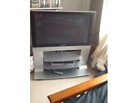 """Panasonic viera 42"""" tv and stand, built in free view"""