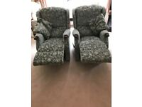 ** £100 A Chair Or £180 For Both** 2 Manuel Celebrity Recliner Armchairs