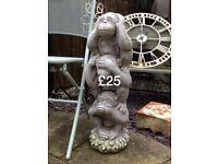 Garden monkey statue