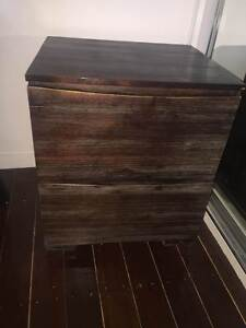 2 dark wood bedside tables Tennyson Brisbane South West Preview