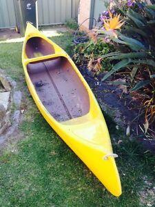 Canadian fibreglass canoe Oak Flats Shellharbour Area Preview