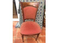 Curved back chair comes with custom made quality fabric seat cushions. Designed by Mark Elliot