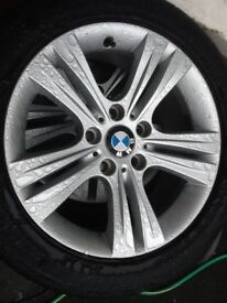 17inch BMW 320d SE Alloys With Good Tyres For Sale