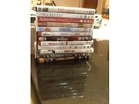 12 DVDs For sale. Mixed. As new.
