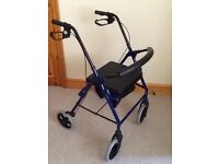 4 wheel walking aid