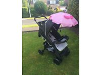 New in box hauck shopper comfortfold black pram Pushchair buggy from birth £50