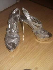 Sparkly strappy silver Guess heels Beaconsfield Fremantle Area Preview