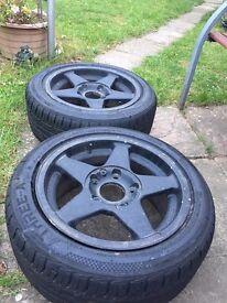 "2x ATEV 15"" Bmw fitment alloy wheels"