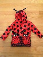 Ladybug Raincoat Girls, Size 12 months