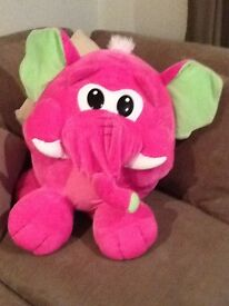 Giant elephant soft toy
