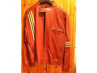 Immaculate red leather smart biker style jacket