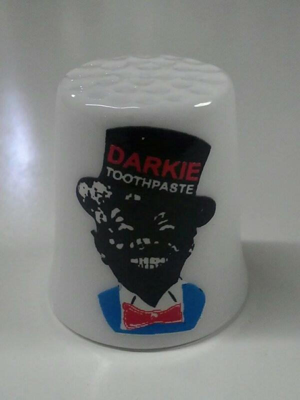 Darkie Toothpaste Collectible Porcelain Thimbles