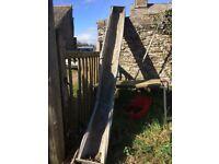9-10ft long galvanised trough
