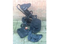 Quinny Buzz all black Limited Edition buggy. Lots of extras