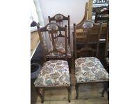 Three Edwardian Chairs.