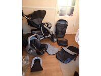 * Mothercare Trenton Deluxe Travel System - Pram, Carrycot, Car Seat etc *