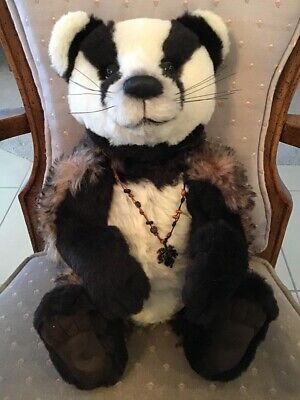 Charlie Bears BROCK THE BADGER 2013 Isabelle Mohair Collection FREE US SHIP
