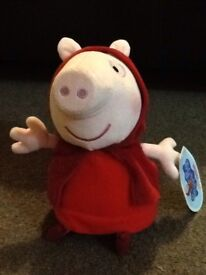 Brand new peppy pig 'red riding hood'