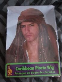 MENS CARIBBEAN PIRATE FANCY DRESS WITH WITH BANDANA GREAT FOR PARTY OR STAG DO