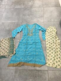 Asian dress brand new size small blue