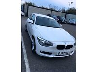 BMW 1 Series 5 Door pearlescent white **62 plate**