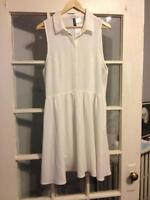 H&M white dress size 12