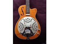 Vintage electro acoustic resonator cutaway guitar