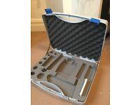 Plastic case for podiatry tools.