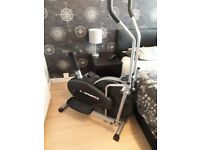 2 in 1 fitness machine Confidence Fitness Elliptical Trainer and Exercise Bike