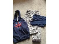 Boys trousers, top and hoodie - age 8