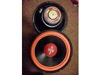 """Pair 12"""" 300 watt sub woofers speakers"""