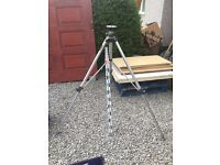 Surveyors Tripod With Leveling Staff!