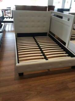 Brand New Double  Queen PU Leather Bed Frame in Black or White