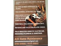 Handyman for home, garden maintenance and Domestic Electric works