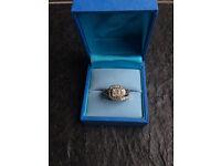 Perfect Fit 9ct White Gold 2/3 Carat Diamond Bridal Set SIZE J