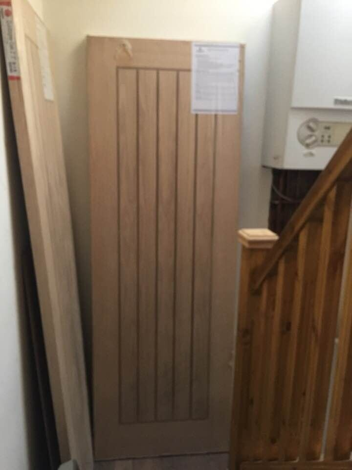 Howdens Dordogne Style Oak Interior Door 66 X 29 Fire Rated In