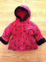 Kids Pretty Puppy jacket (black/red)