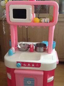 ELC pink kitchen.