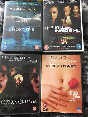 Horror DVD Bundle x 4 Killer Inside Me, American Beauty, Jeepers Creepers, Ghost