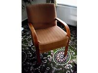 Upright upholstered chair